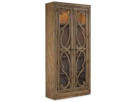 Hooker Furniture Solana Light Wood Bunching Curio Cabinet