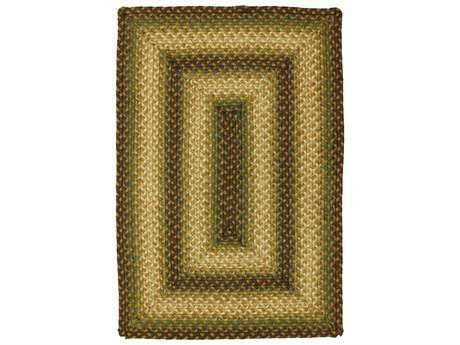 Homespice Jute Braided Rugs Modern Braided Jute Geometric Oval 4' x 6' Area Rug - 503541