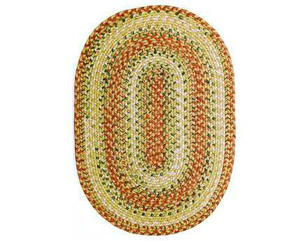 Homespice Ultra Durable Braided Rugs Traditional Red Braided Synthetic Geometric Oval 2' x 3' Area Rug - 301093