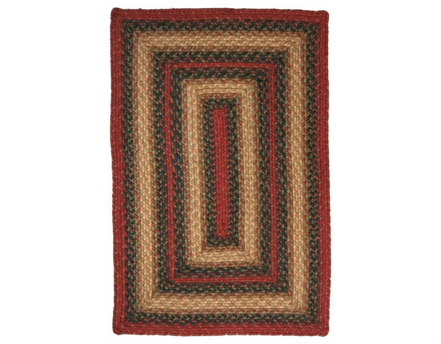 homespice decor jute braided rectangular red area rug