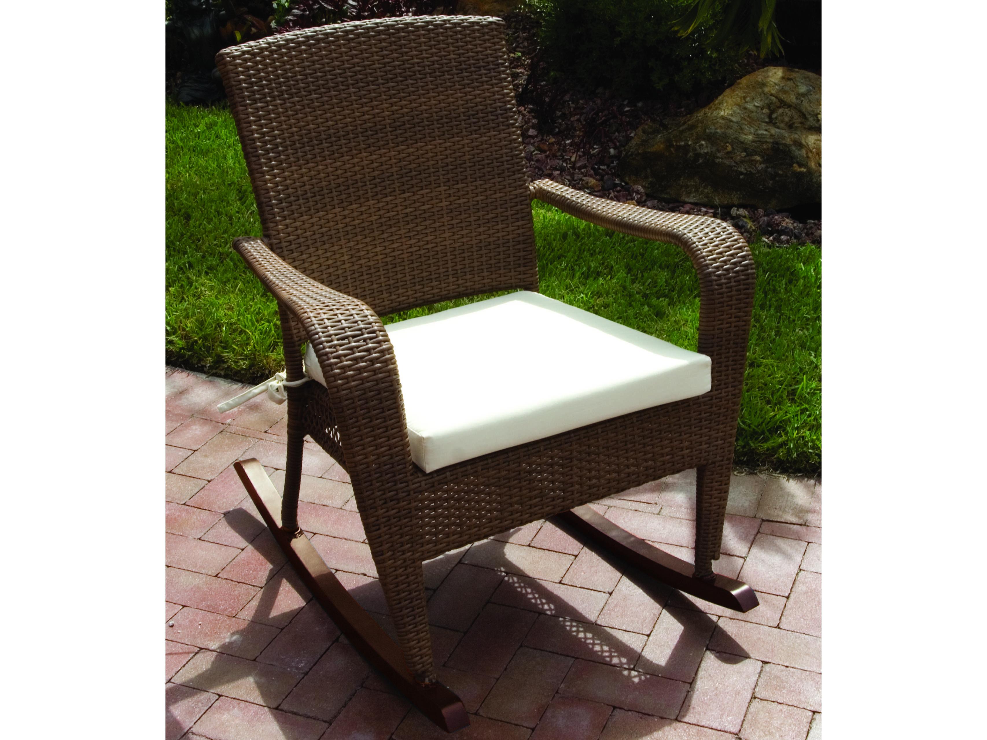 Hospitality Rattan Outdoor Grenada Wicker Rocking Chair