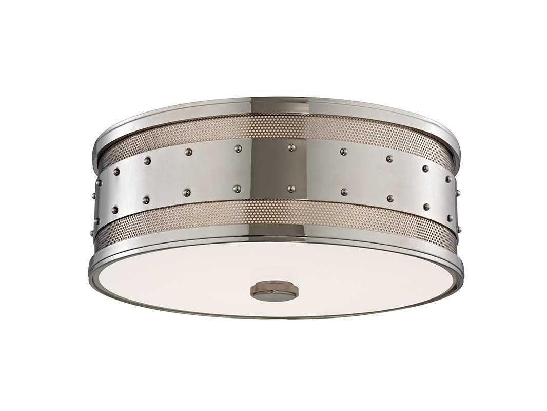 Hudson valley lighting gaines chic vintage industrial for Industrial flush mount lighting
