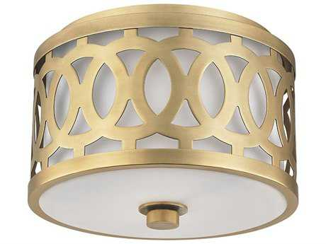 Hudson Valley Classic Heritage Genesee Aged Brass 10'' Wide Flush Mount Light