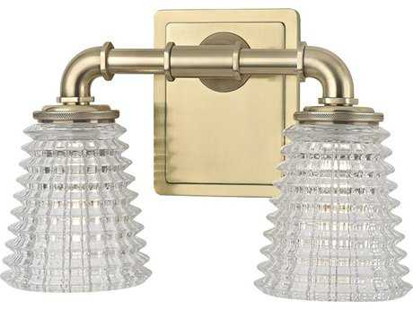 Hudson Valley Bold & Glamorous Westbrook Aged Brass Two-Light 12'' Wide Vanity Light