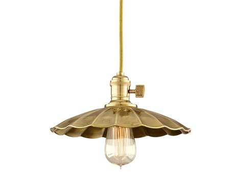 Hudson Valley Lighting Heirloom Chic Vintage & Industrial Pendant Aged Brass - 8001-AGB-MS3