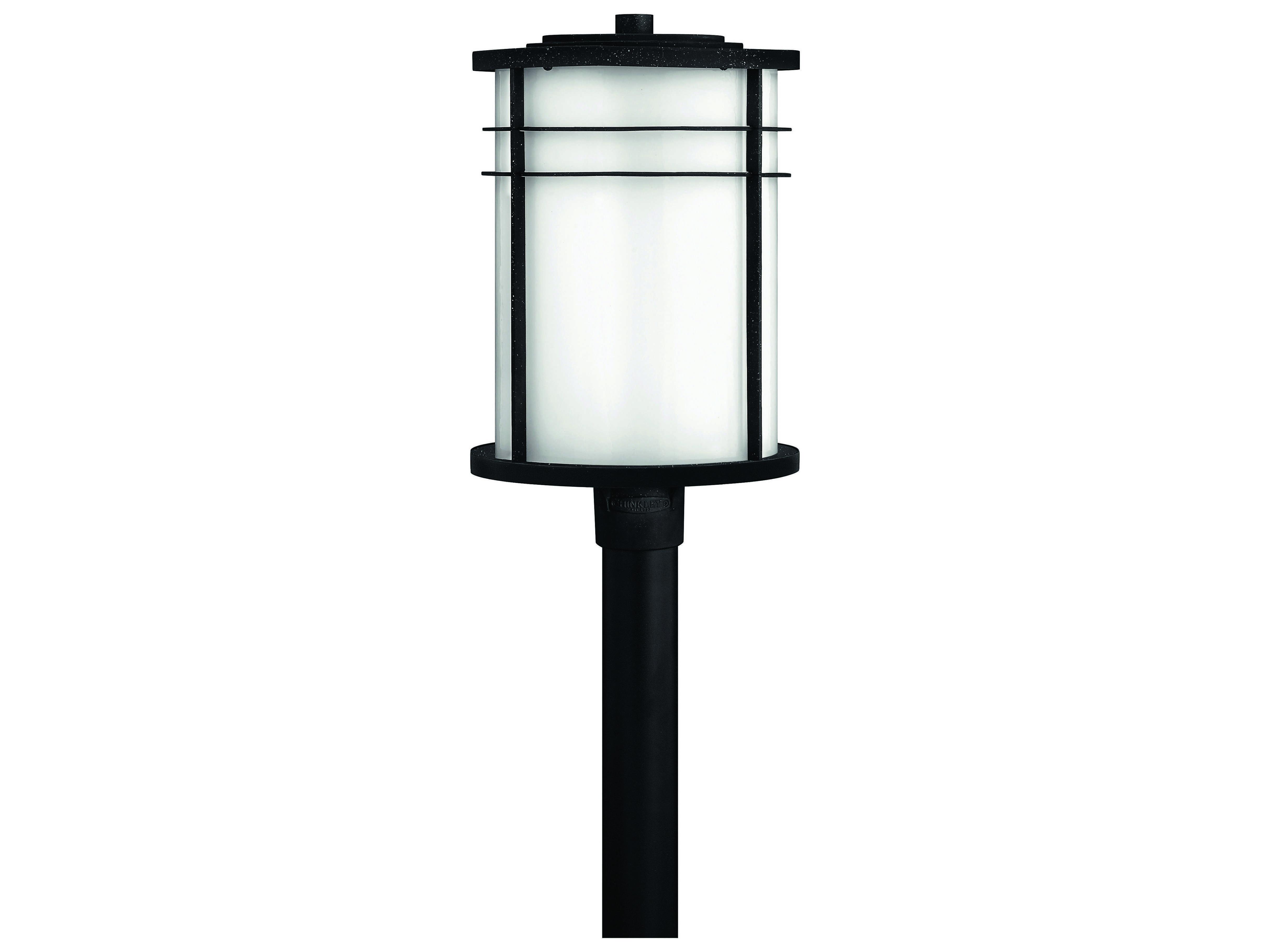 Hinkley Lighting Ledgewood Vintage Black CFL Outdoor Post Light 1121VK GU24