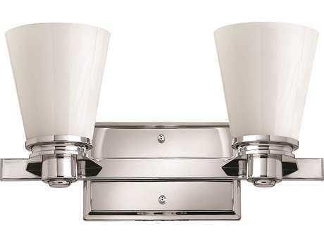 Cfl Vanity Light Bulbs : Hinkley Lighting Avon Chrome Two-Light CFL Vanity Light 5552CM-GU24