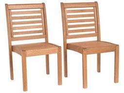 International Home Miami  Amazonia Eucalyptus Dining Side Chair (2 Piece Set)