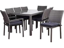 International Home Miami Atlantic Liberty 9 Piece Rectangular Dining Set Grey