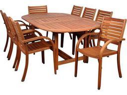 International Home Miami  Amazonia Eucalyptus Oval Nine Piece Extendable Arizona Dining Set
