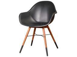 International Home Miami Amazonia Charlotte Eucalyptus  Deluxe 4 Piece Armchair Set Black - Price includes 4 Chairs