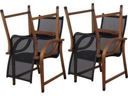 International Home Miami  Amazonia Eucalyptus Bahamas Dining Arm Chair (4 Piece Set)