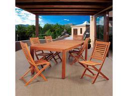 International Home Miami Amazonia Eucalyptus Bradford 7 Piece Eucalyptus Rectangular Dining Set