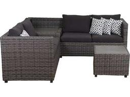 International Home Miami Atlantic Cebu 5 Piece Sectional Set with Storage