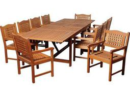 International Home Miami  Amazonia Eucalyptus Rectangular 11 Piece Extendable Deangelo Dining Set