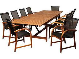 International Home Miami  Amazonia Eucalyptus Rectangular 11 Piece Extendable Damon Dining Set