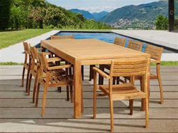 International Home Miami  Amazonia Teak Rectangular Nine Piece Boyd Dining Set