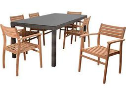 International Home Miami Atlantic Lina 7 Piece Rectangular Dining Set