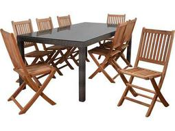 International Home Miami Atlantic Morgan 9 Piece Rectangular Dining Set