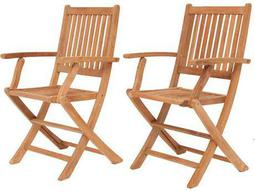 International Home Miami  Amazonia Teak London Dining Arm Chair (2 Piece Set)