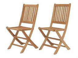 International Home Miami  Amazonia Teak London Dining Side Chair (2 Piece Set)