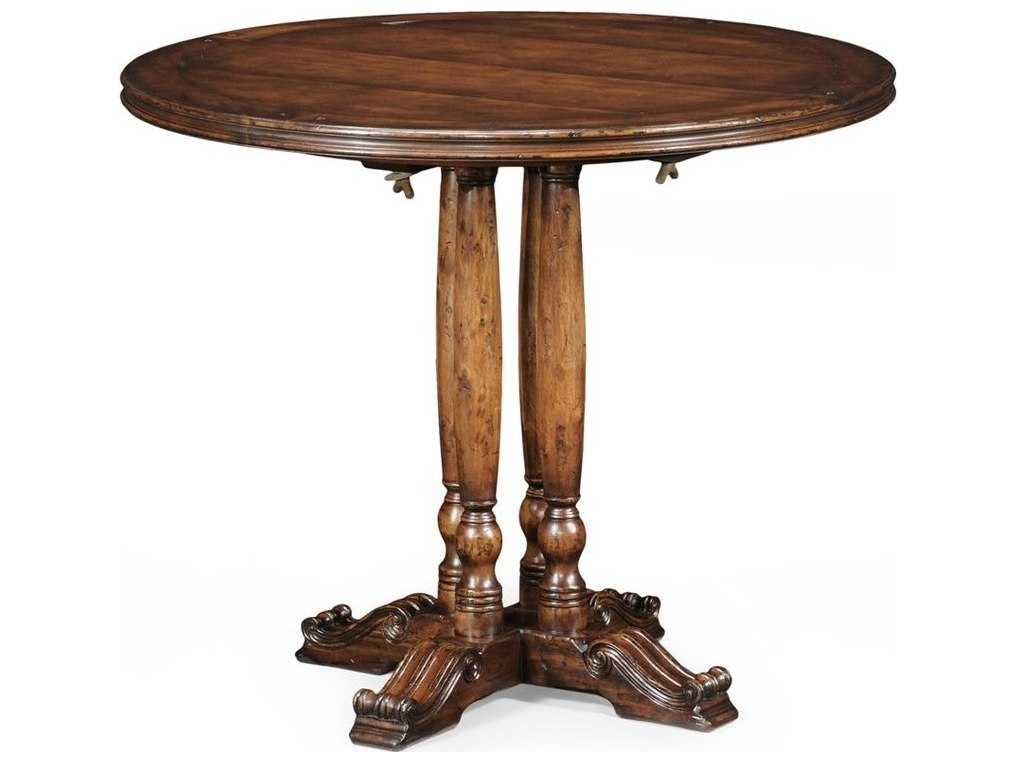Charles Country Farmhouse Medium Walnut 36 Round Dining Table 492365