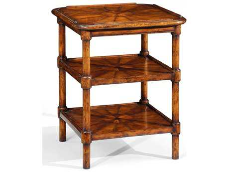 Jonathan Charles Country Farmhouse Medium Walnut Country Distressed 22 Square End Table