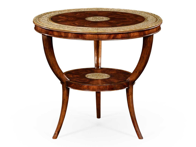 Jonathan Charles Buckingham Medium Antique Mahogany 33 Round Coffee Table 492706