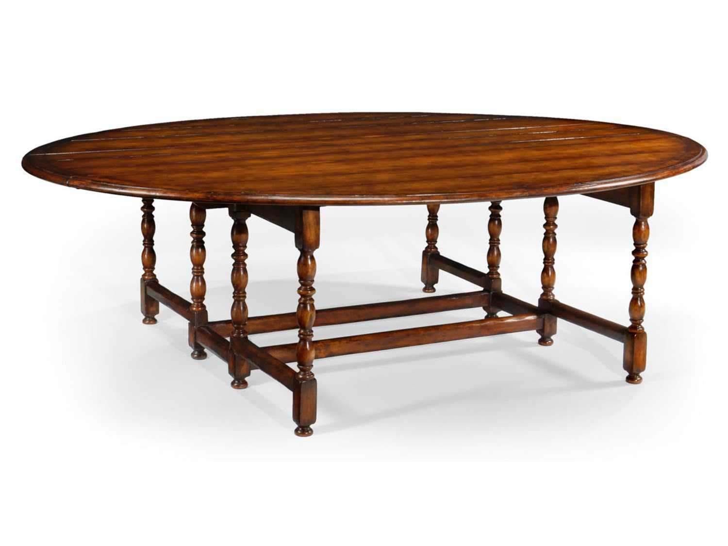 Jonathan Charles Country Farmhouse Medium Walnut 102 5 x 21 75 Oval Dining Table