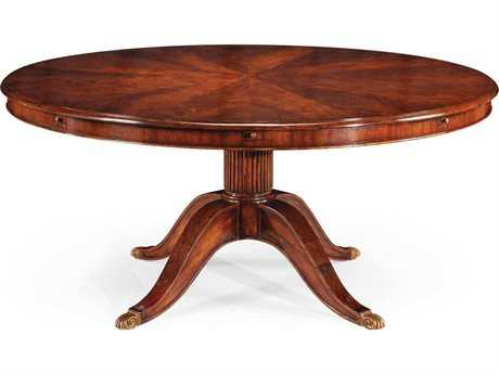 Jonathan Charles Buckingham Medium Antique Mahogany 66 Round Dining Table