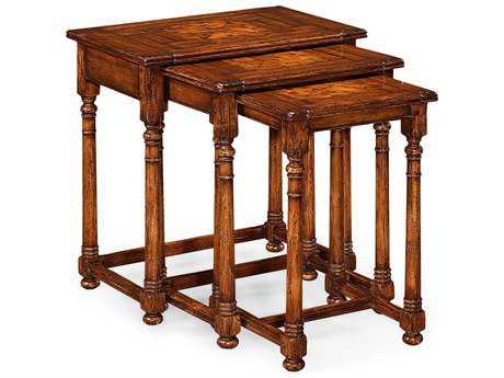 Jonathan Charles Huntingdon Medium Walnut 25 x 17.5 Rectangular Nesting Table