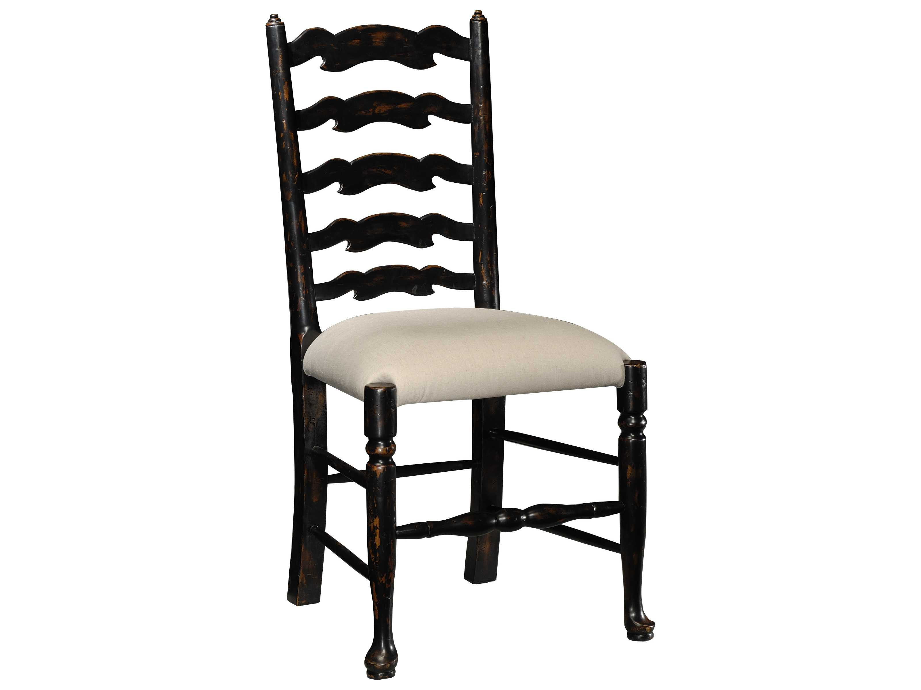 Jonathan Charles Country Farmhouse Painted Honey Black Distressed Dining Chai