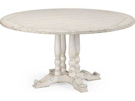 Jonathan charles country farmhouse painted off white 60 for Off white round dining table