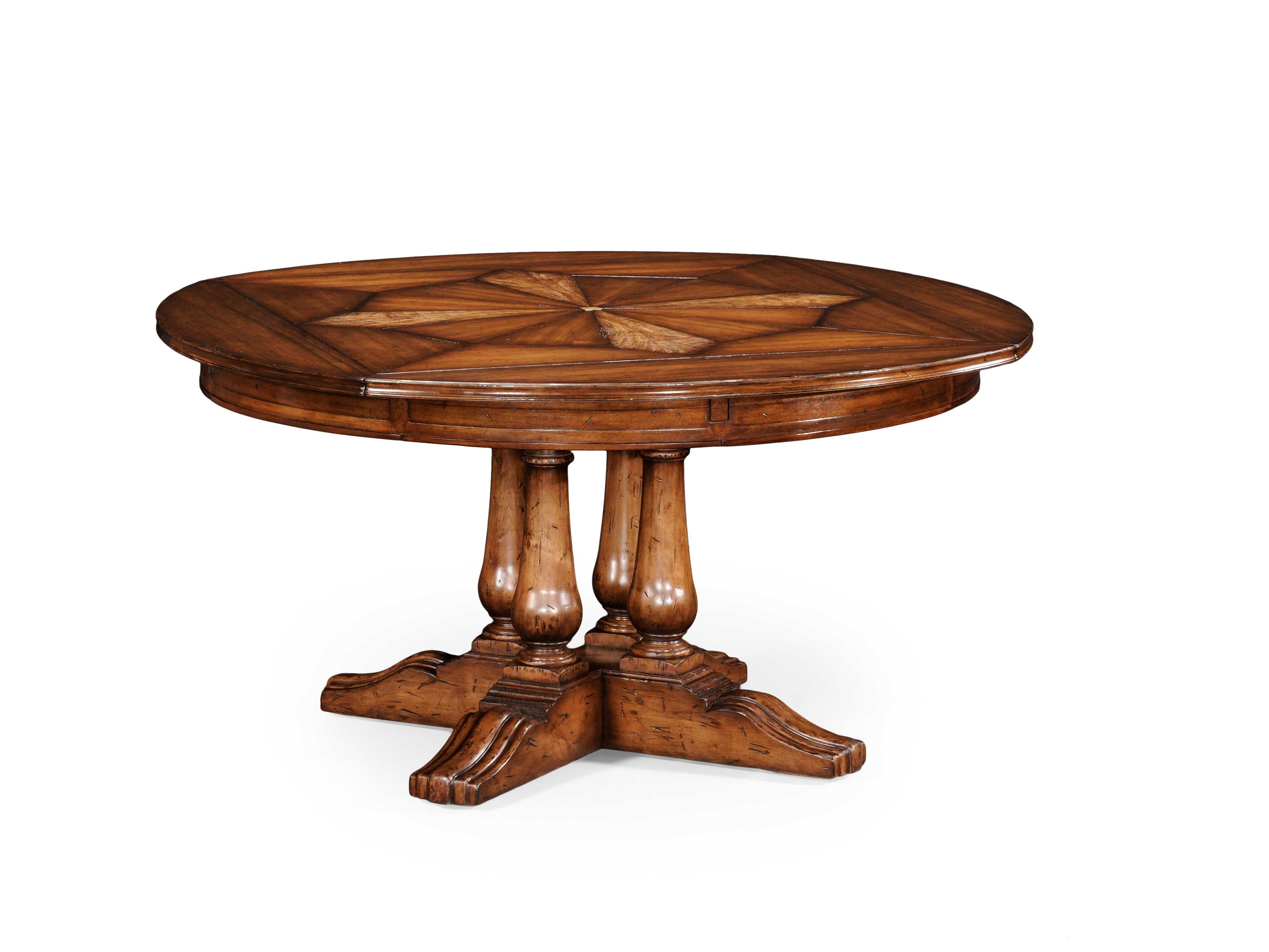 Country Farmhouse Medium Walnut 59 5 Round Dining Table 494079