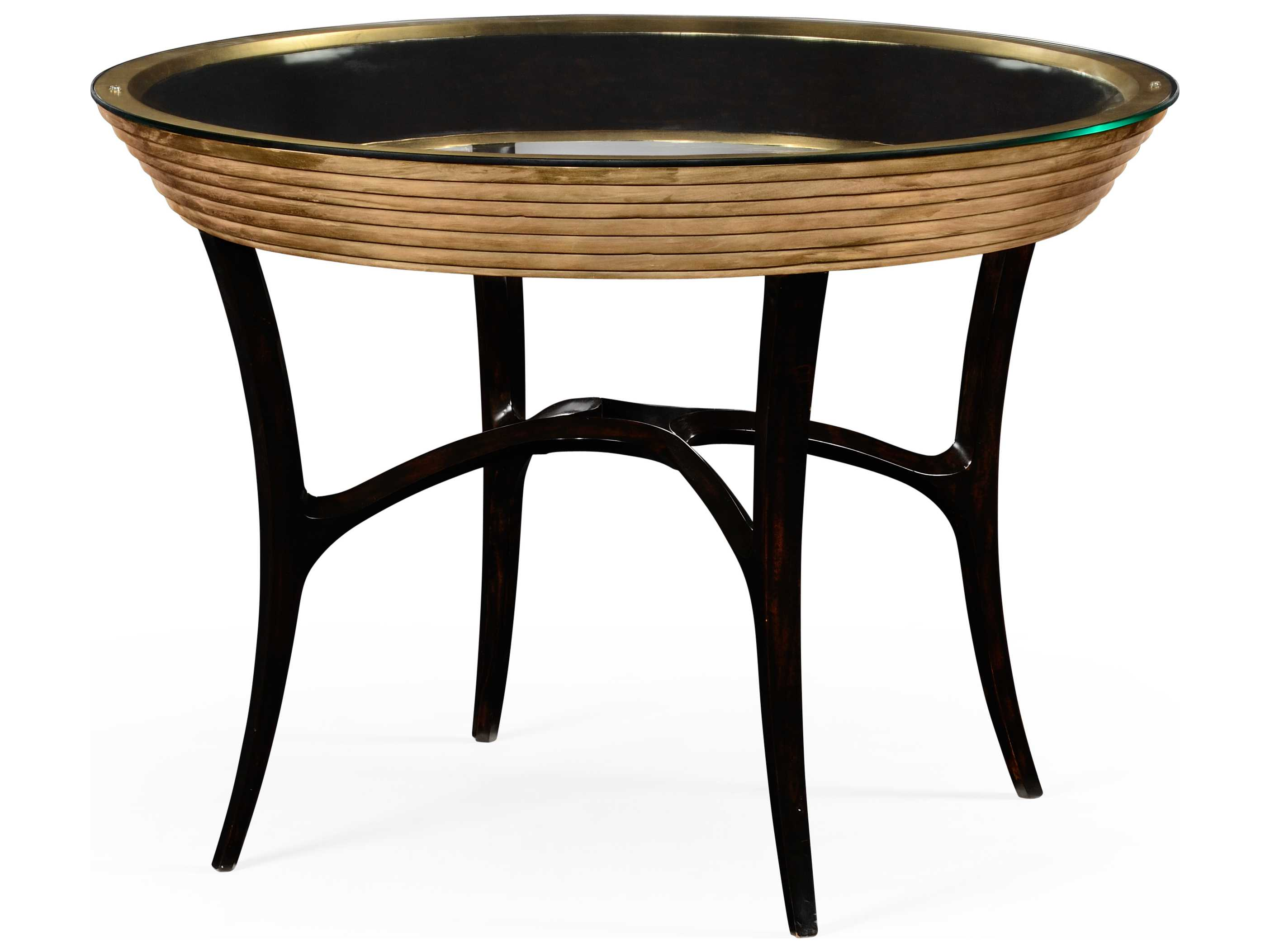 Gold Foyer Table : Jonathan charles luxe light antique gold leaf round