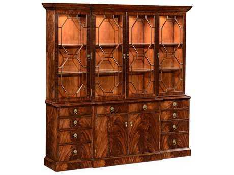 Jonathan Charles Buckingham Medium Antique Mahogany China Cabinet