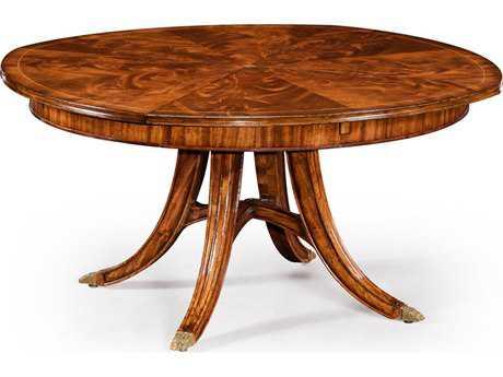 Jonathan Charles Windsor collection Crotch Walnut Medium Casual Dining Table
