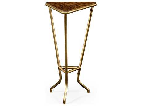 Jonathan Charles Luxe Light Argentinean Walnut 14 x 12.5 Triangular End Table