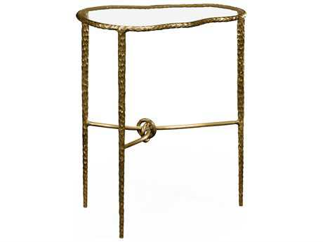 Jonathan Charles Stiletto Light Brown Brass 20 x 14 Rectangular Console Table