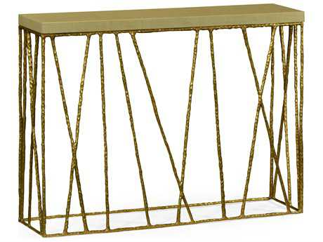 Jonathan Charles Artisan Light Brown Brass 48 x 12 Rectangular Console Table