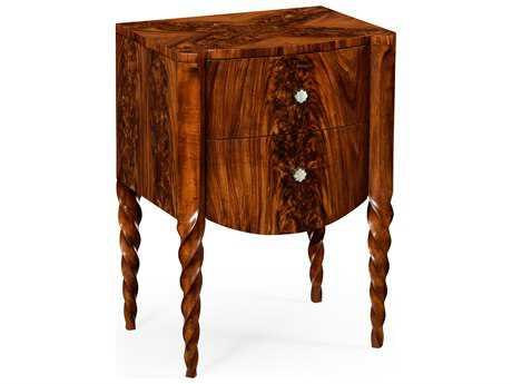 Jonathan Charles Twist collection Tropical Walnut Crotch Nightstand