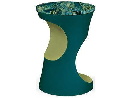 Jonathan Charles Curated collection Teal Painted End Table