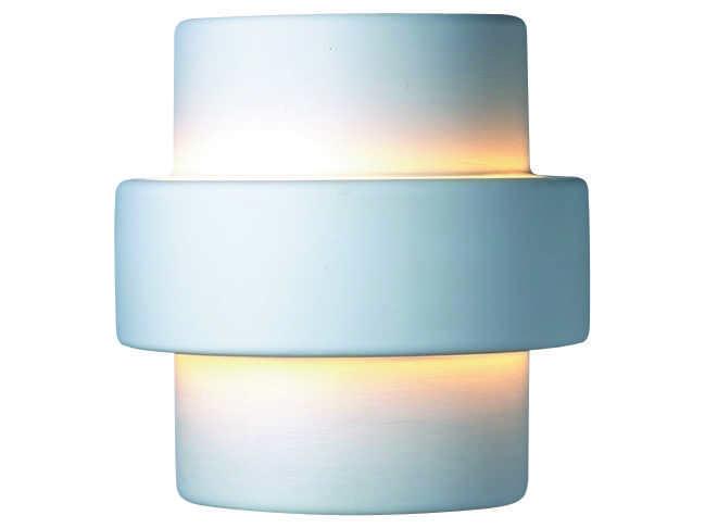 Large Ceramic Wall Lights : Justice Design Group Ambiance Step Large Ceramic Two-Light Wall Sconce CER-2215