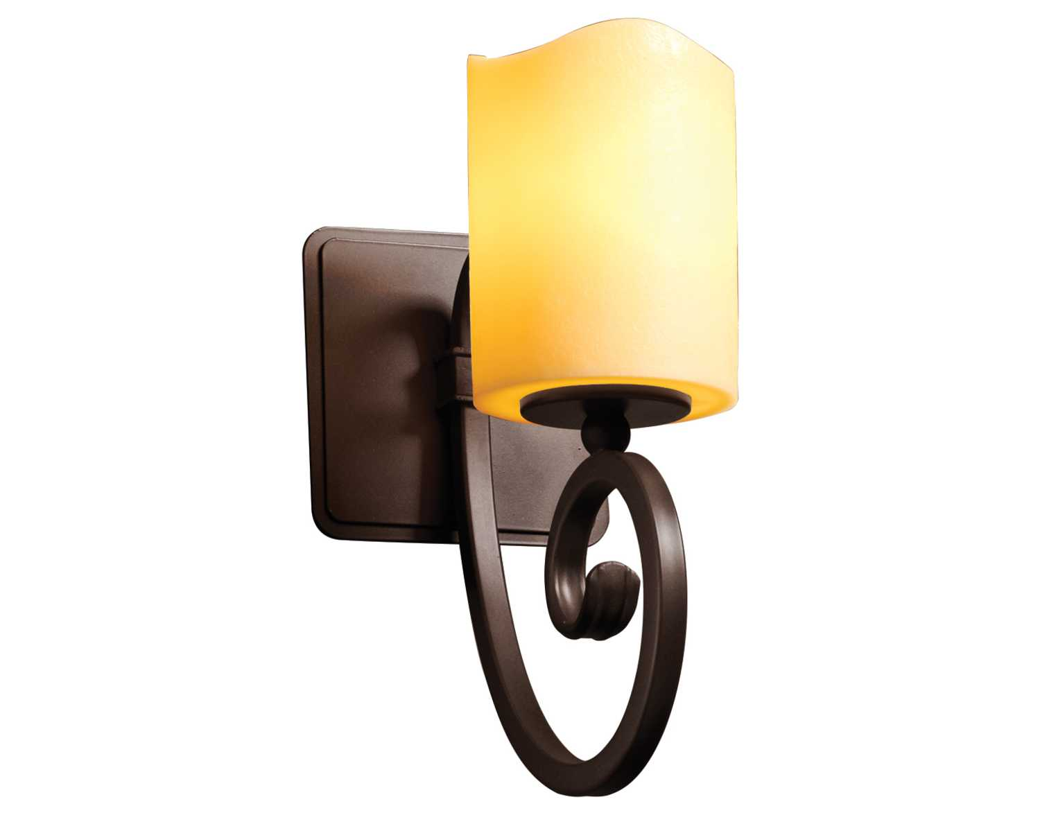 Justice Design Group Candlearia Victoria Faux Candle Resin Wall Sconce CNDL-8571