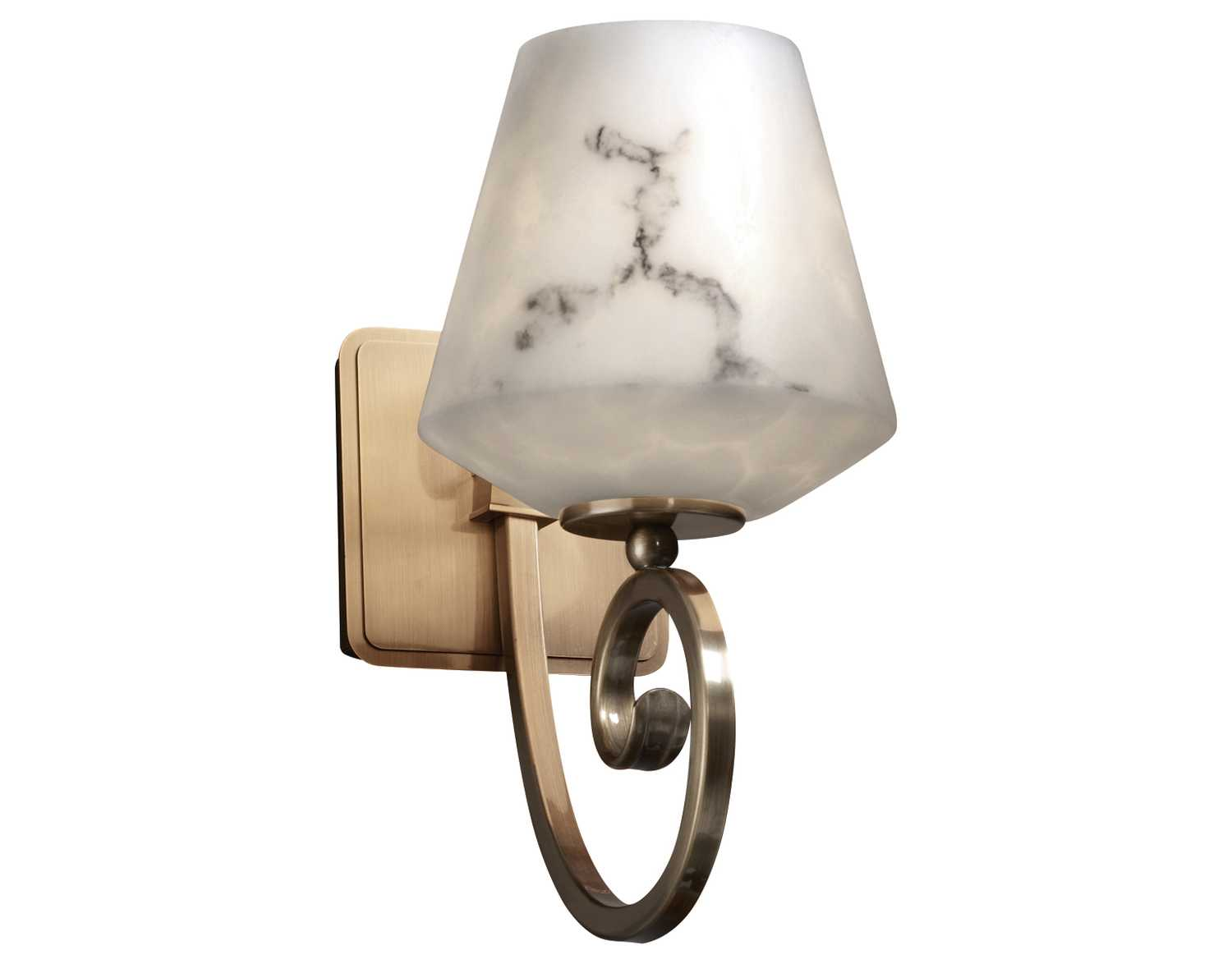 Justice Wall Sconces : Justice Design Group Lumenaria Resin Faux Alabaster Wall Sconce FAL-8571