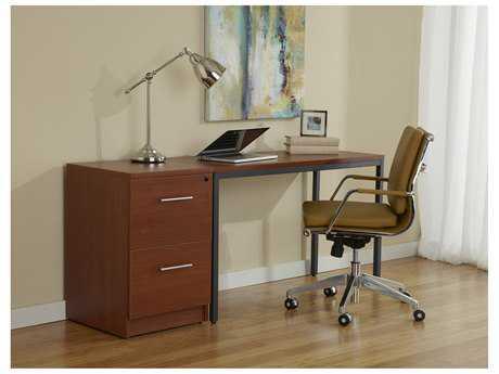 Jesper Office 100 Parson 66'' x 20'' Rectangular Cherry Computer Desk with File Cabinet