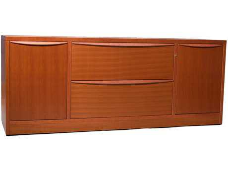 Jesper Office Sit & Stand Cherry Credenza File Cabinet