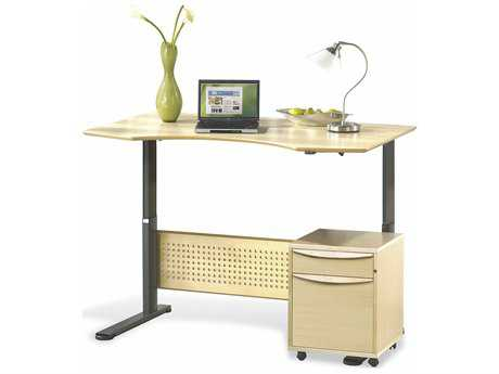 Jesper Office Sit & Stand 63'' x 35'' Maple Adjustable Computer Desk