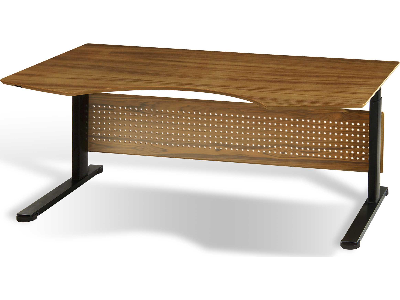 Jesper Office Sit Stand 75 39 39 X 41 39 39 Teak Adjustable Computer Desk 7190105 Tk