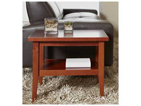 Jesper Office Entertainment & Occasional 24'' x 18'' Rectangular Cherry End Table